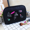Hot selling South Korean smile makeup bag portable wash bag PU leather smile cosmetic bag