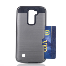 TPU PC Double Layer Brushed Hair Line Soft phone Case For LV5 for K10 2017 Free Sample
