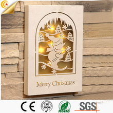 Free sample marry christmas supplilers wooden decoration bettery mini light bulb covers