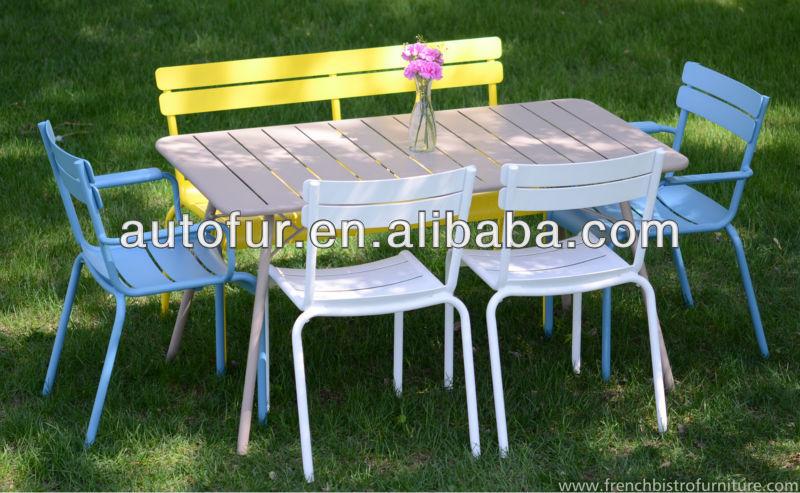 Mobilier de jardin vintage table de jardin en métal-Tables ...