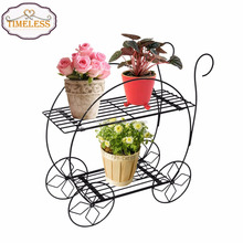 Factory Directly Home Decor 2 Tier Metal Garden Plant Stands Flower Pot Holder