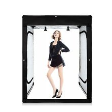 "47""x32""x63"" Large Portable Photo Studio Light box Shooting Tent Cube Box Kit with 3 Colors PVC Backdrops in Carry Bag"