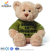 ISO9001 factory baby teddy bear stuffed animal with t-shirt high quality soft plush teddy bear