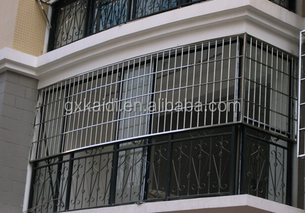 2016 latest modern house safety stainless steel window grill design
