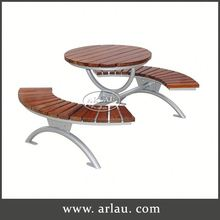 Arlau Dining Table And Chairs Beech Wood Furniture, Solid Teak Wood Tables, Outdoor Round Wooden Table And Bench