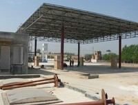 Fast and Easy to Install Steel Space Frame petrol /gas/gasoline station