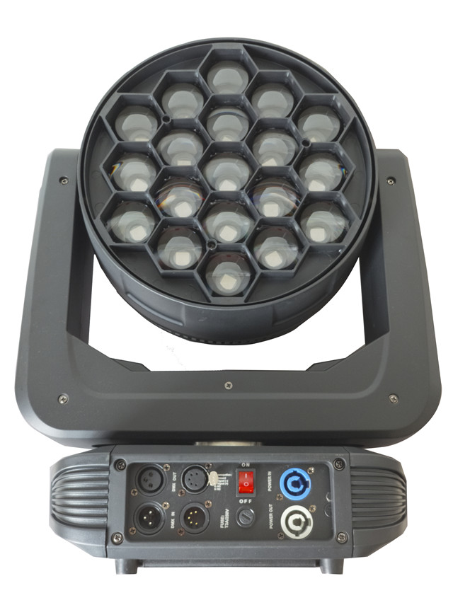 Disco led light 19x30w 4in1 RGBW 3 zone ring control led moving head zoom wash light