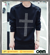 korean men clothing Customized low price fashion printed shirt cheap import long sleeve t-shirts
