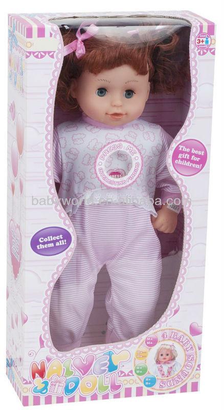 Um- botão 4 sons 18 polegadas americano feminino gordura boneca brinquedos