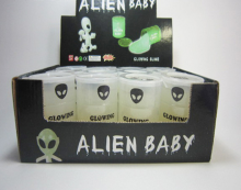 wholesale children tricky barrel putty toy glow in the dark alien slime toy