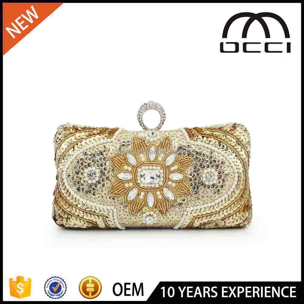 alibaba express finger clutch bag fashion ladies sequins clutch purse SC2813