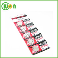 Lithium 3V button batteries cr2032 3 volt coin cell for Maxell CR2032 blister card package