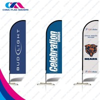 promotion advertisement display event beach banner flag