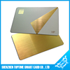 brushed finishing stainless steel SLE4442 contact chip starbucks metal card