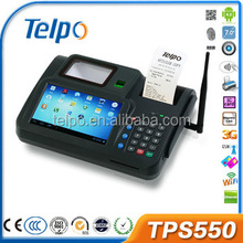 Telpo Hot sales function of barcode scanner Android Pos Dual Core with Fingerpinter Reader