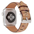 2017 Wooden watch band genuine leather strap for apple watch, for apple watch strap