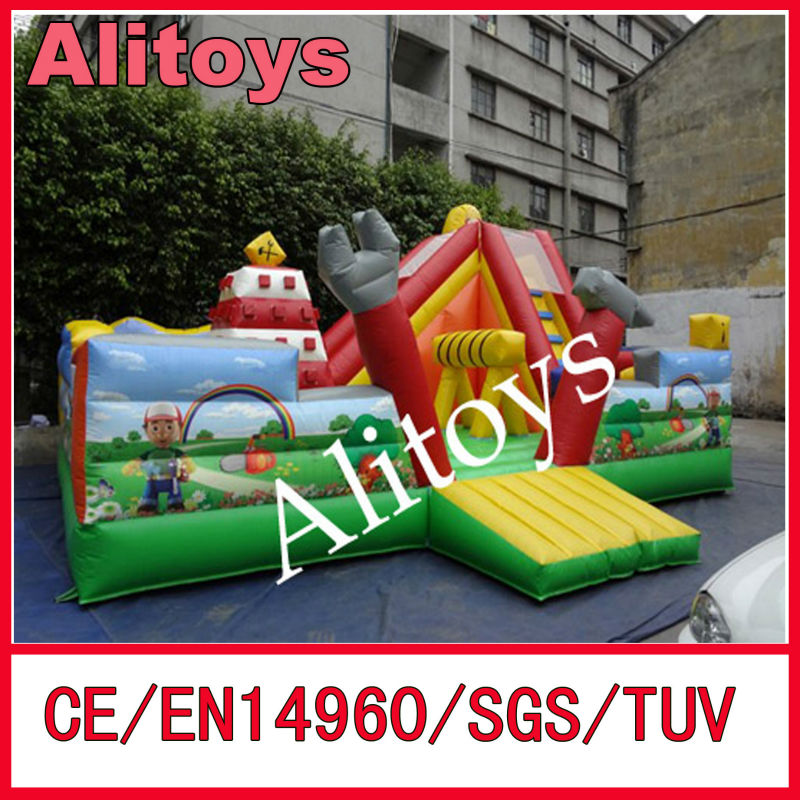 2015 newest colorful inflatable fun city inflatable amusement park for rental