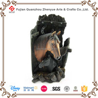 2016 customized polyresin horse head sculpture