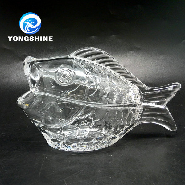 new 100ml cute fish shape glass canning jars glass jars for canning glass fish bowl