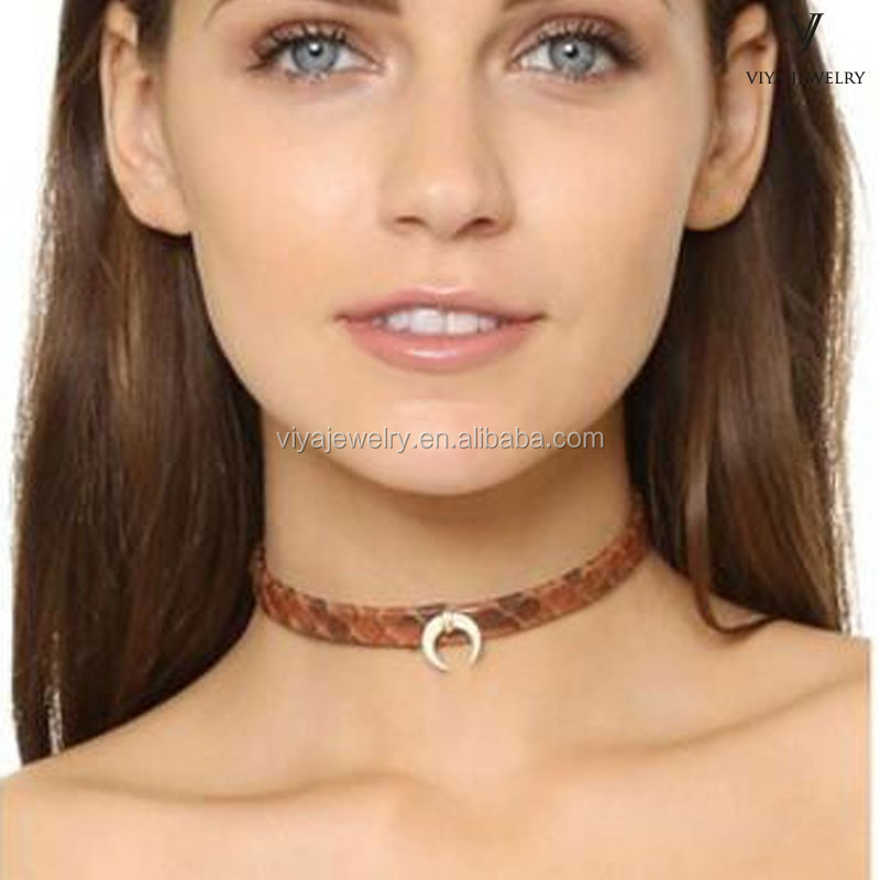 custom choker design lady jewelry items python necklace