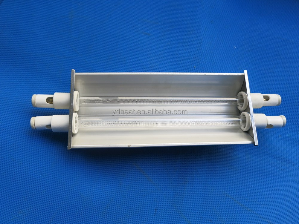 with the reflector and 2x500W quartz elements and Electric Power Source infrared heating element
