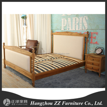 French Style Roman Pillar single Bed Made of Solid Wood bedroom furniture BE14051-S(1.5m)