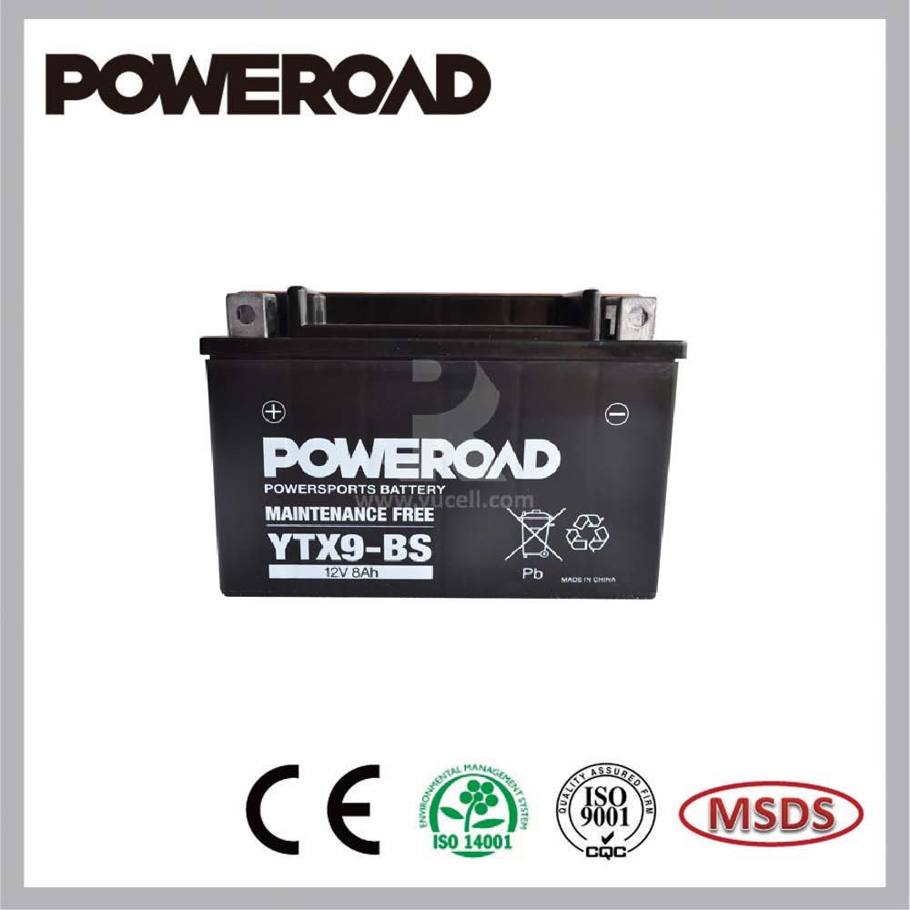 POWEROAD Lead Acid MF battery for motorcycle YTX9-BS