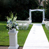 Outdoor ceremony decoration wedding flower pillar with factory price