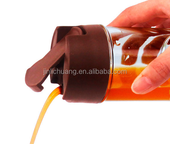 2015 creative design practical non-toxic promotional silicone oil bottle sauce bottle