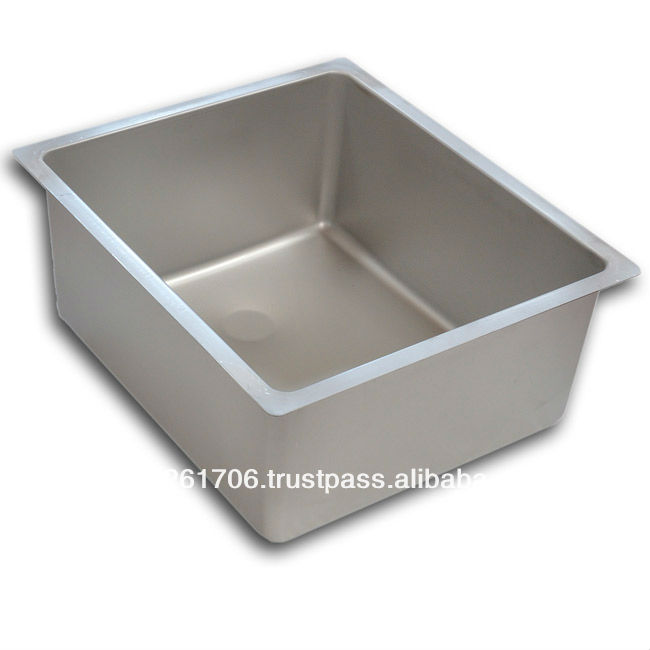 kitchen sink R15 rectangular mm 340x400xh200 chemical finish and bright polished