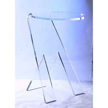 Simple style transparent bending and curved acrylic modern corner table and side table