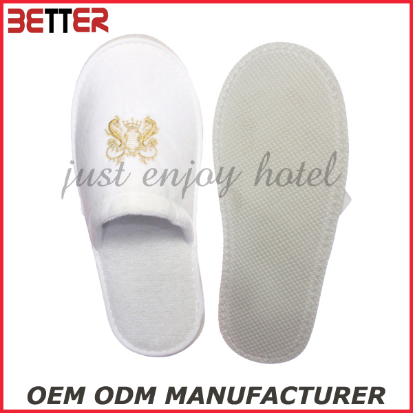 cheap disposable resort velvet slipper