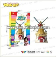 DIY WOODEN Windmill Shed EDUCATIONAL TOYS FOR CHILD