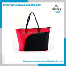 600D Polyester Material and Handled Style Shopping Bag Use New Foldable Tote Shoulder Carry Bag for Girl's Women's