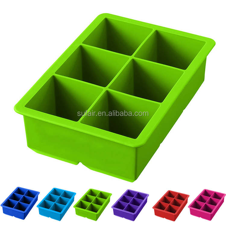 personalized ice cube mold make 6 large cube silicone ice cube tray