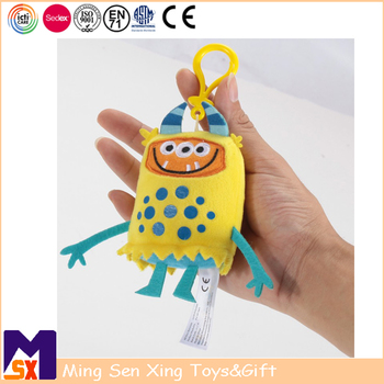 Promo gifts factory custom soft cute plush toy keychain