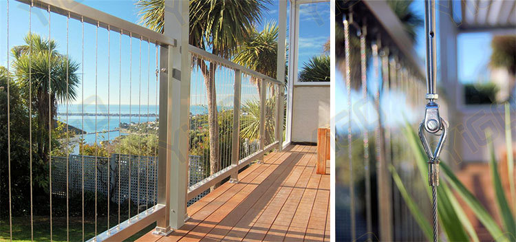 Cable Wire Railing Or Stainless Steel Wire Mesh Fence