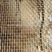plain woven stainless steel crimped wire mesh (building material)