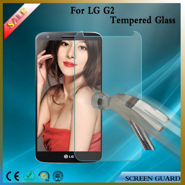 invisible shield screen protector for lg g2 0.33mm hardness 8-9H Tempered Glass screen protector touch screen protector film