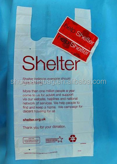 China manufacture custom UK market usage collection plastic charity bag for uk