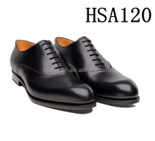 formal style slip resistant genuine leather police shoes with pointed toe