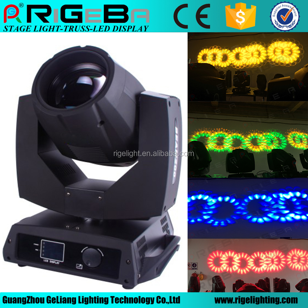 professional stage lighting 5r 200w beam moving head light