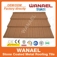 WANAEL 1340*420mm COLORFUL STONE COATED METAL ROOFING TILE WITH SONCAP CERTIFICATE