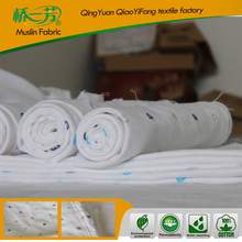 55 inch good handfeel eco-friendly printed cotton muslin fabrics