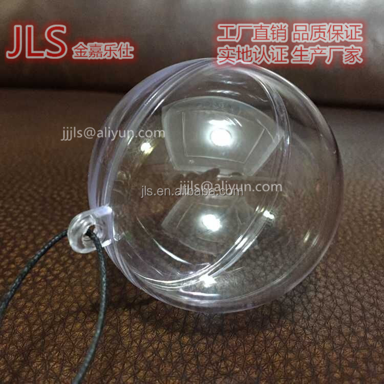 Clear ball / transparent ball christmas decoration / acrylic plastic ball