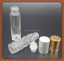 GREAT 10ml Empty 10ml Roll On Bottles Clear Glass Refillable Perfume Oil Lip Balm Colors