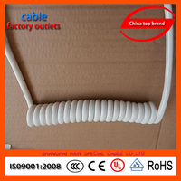 China Manufacturer 3 core power cord curly cable PUR insulated power cord curly cable