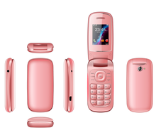 Cheap quad band wifi OEM dual sim card flip phone with Spanish language from China supplier