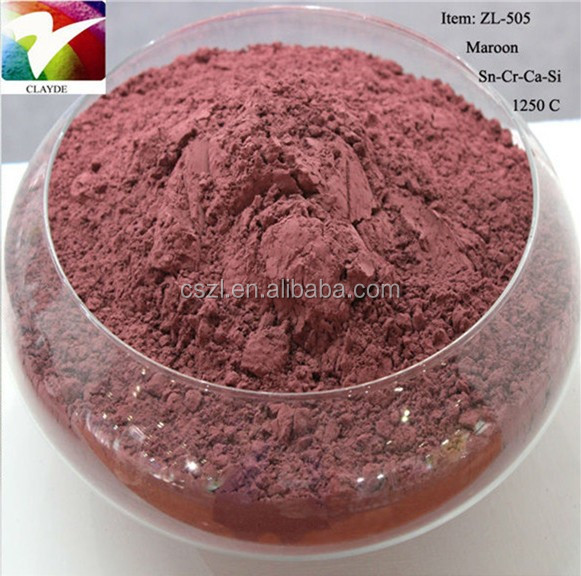 1250C Maroon Red ceramic color pigment glaze color powder