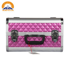 Wholesale cute makeup box false eyelashes storage beauty makeup case with mirror